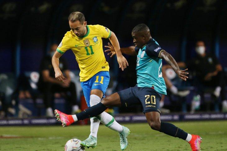 Turunkan skuat pelapis, timnas Brazil ditahan imbang Ekuador 1-1