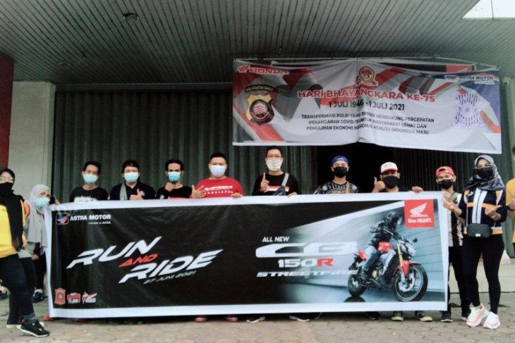 Astra Motor Kalbar dan Paguyuban HWBC gelar Run And Ride With HWBC