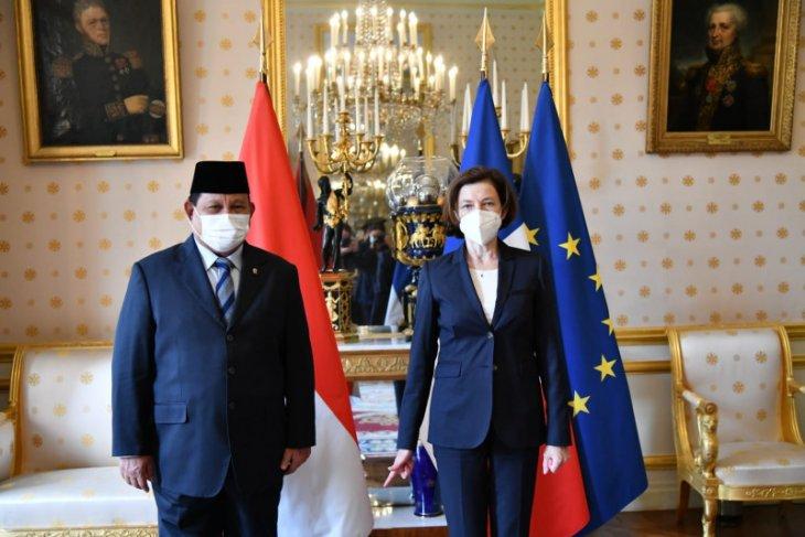 Prabowo Subianto tandatangani kerja sama pertahanan RI dan Prancis