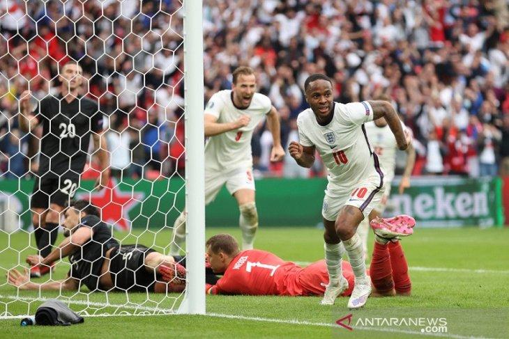 Sterling & Kane antar Inggris lewati Jerman di babak 16 besar