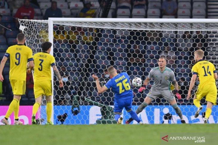 Ukraina melaju ke perempat final setelah tundukkan Swedia