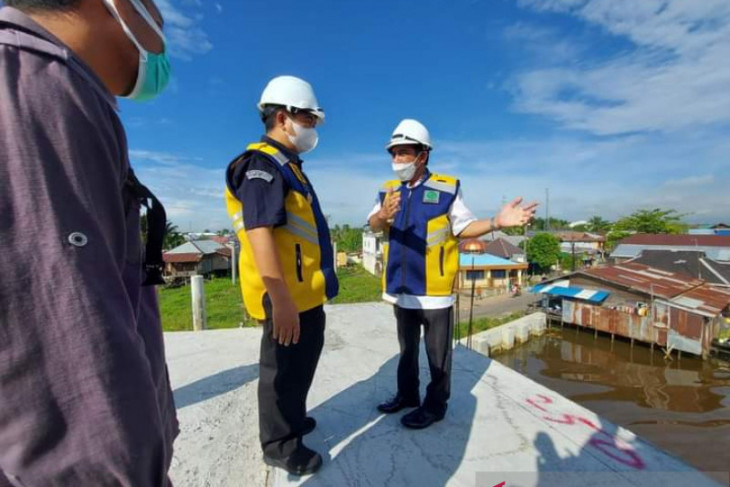 Ibnu Sina resmikan kelanjutan pembangunan jembatan HKSN