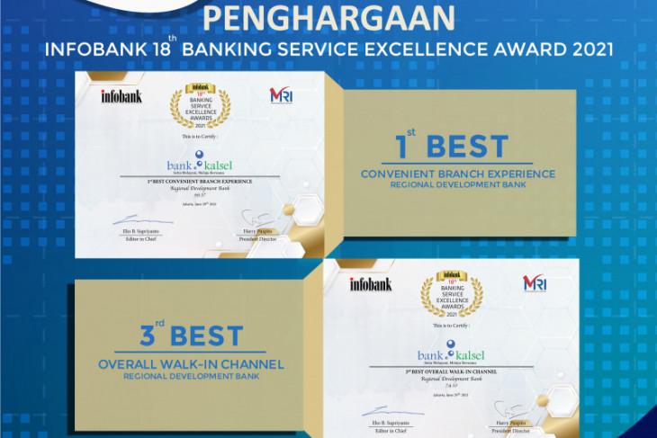 Bank Kalsel terima penghargaan terbaik dalam Banking Service Excellence Award 2021