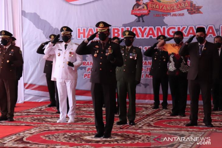 Wali Kota ikuti upacara HUT Bhayangkara di Polres Banjarbaru