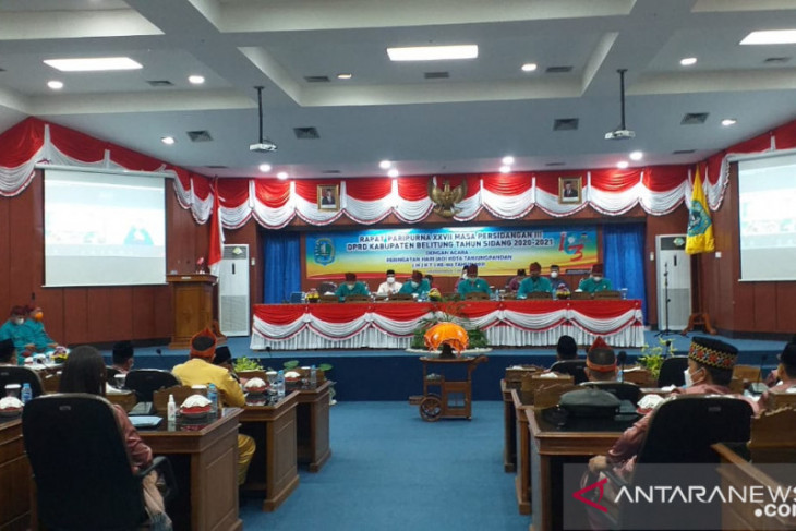 DPRD Belitung gelar rapat paripurna istimewa peringatan HJKT ke-183