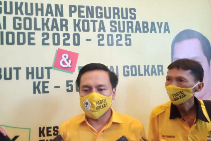 Jelang PPKM Darurat, DPD Partai Golkar Surabaya hentikan semua aktivitasnya