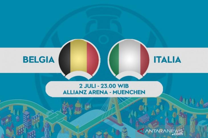 Laga perempat final Euro, Italia tak mau main konservatif lawan Belgia