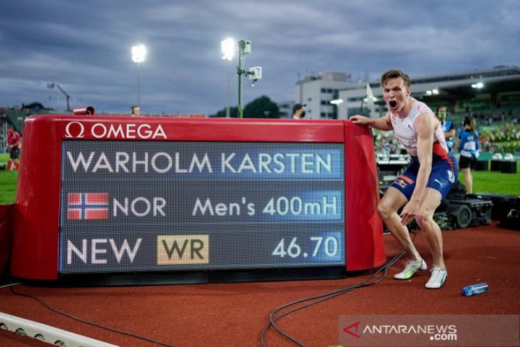 Karsten Warholm pecahkan rekor dunia lari gawang 400 meter putra