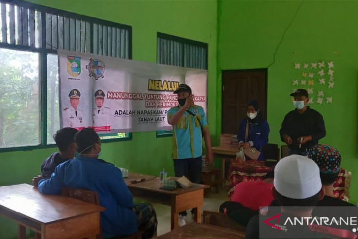 DPMD Tanah Laut sosialisasi TTG kepada 15 pemuda Desa Tanjung