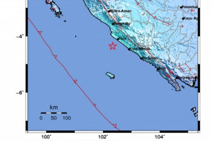 Gempa magnitudo 5,5 guncang Seluma,  Bengkulu