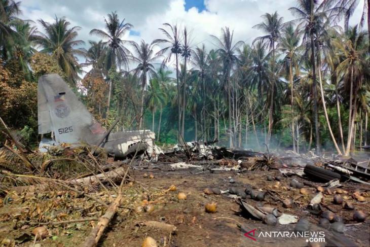Korban tewas kecelakaan pesawat militer di Filipina menjadi 29