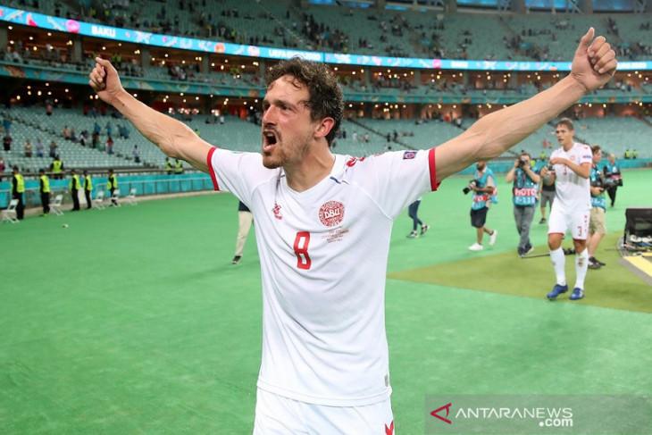 Euro 2020, Thomas Delaney jadi 'star of the match' pertandingan Denmark vs Ceko