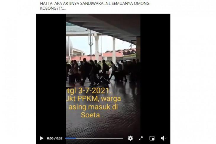 Hoaks, WNA China tiba di Soekarno-Hatta saat PPKM Darurat
