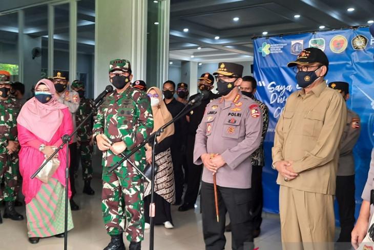Panglima TNI-Kapolri berikan dukungan moril kepada tenaga kesehatan