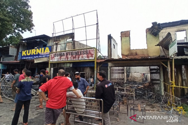 18 rumah dan ruko hangus terbakar di Medan