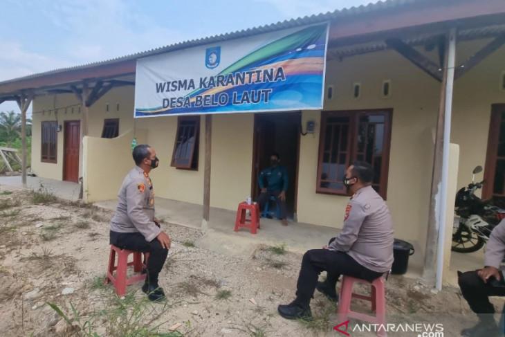 Polres Bangka Barat pantau kesiapan wisma karantina tingkat desa