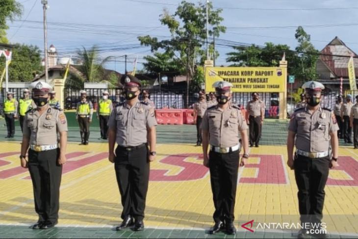 Sebanyak 20 anggota Polres HST naik pangkat