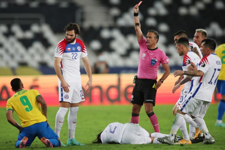 Dapat kartu merah, Gabriel Jesus absen di final Copa America