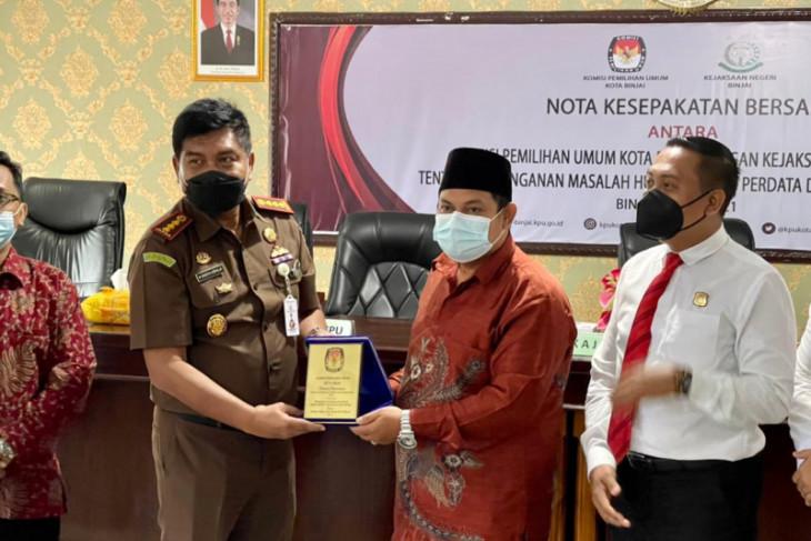 KPU jalin kerjasama dengan Kejaksaan Binjai