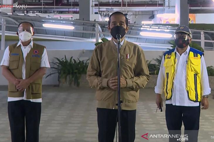 Presiden Jokowi tinjau kesiapan Rusun Pasar Rumput menjadi tempat isolasi