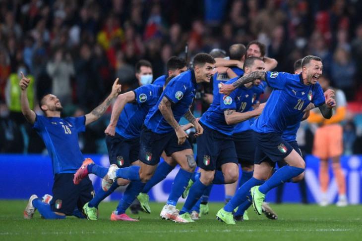 Italia ke final Euro 2020 setelah menang adu penalti