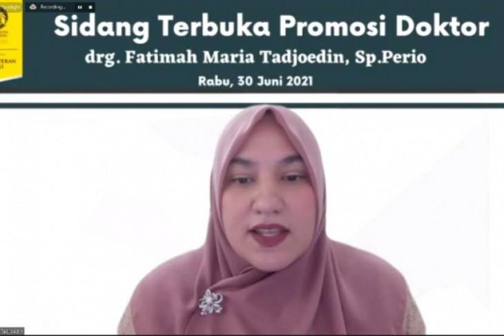 Fatimah Maria raih gelar Doktor FKG UI dengan nilai sempurna