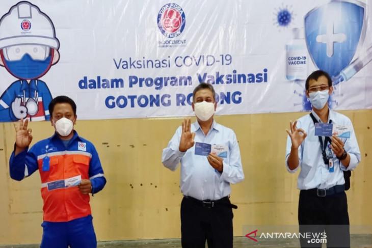 Karyawan Indocement ikuti Vaksinasi Gotong Royong