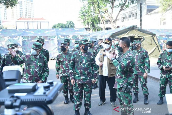 Panglima TNI sidak kesiapan rumah sakit lapangan TNI AD di RSPAD Gatot Soebroto