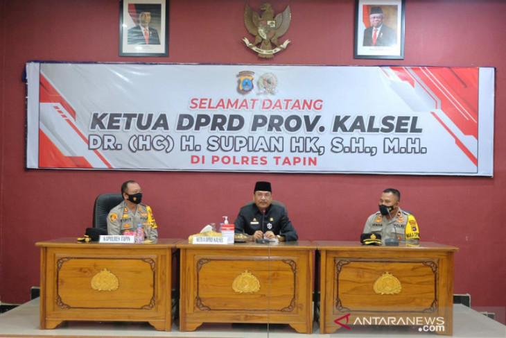 Ketua DPRD Kalsel apresiasi kinerja polres Tapin dan HSS