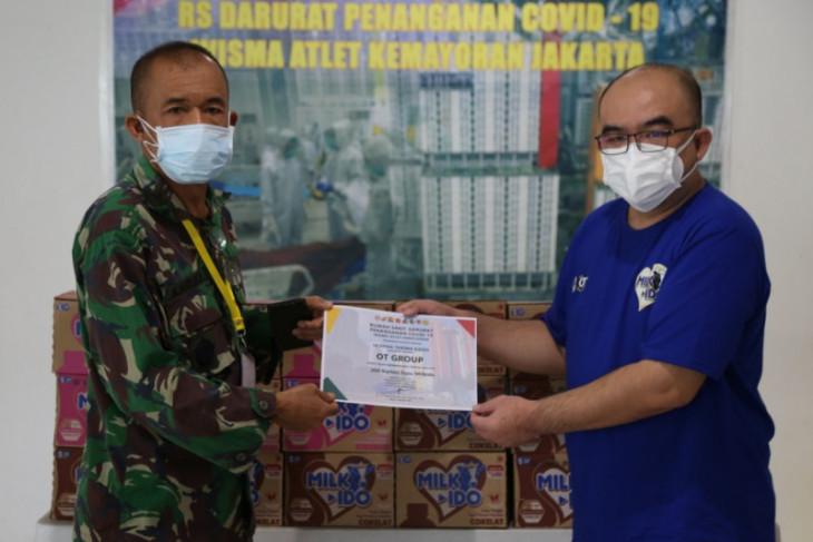 OT Group donasikan susu ke RSD Wisma Atlet