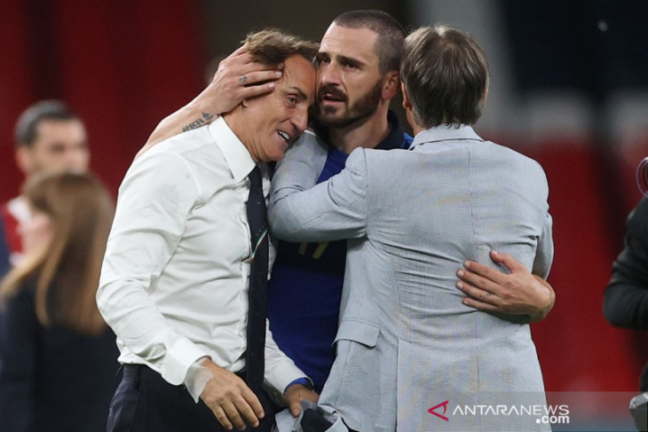 Euro 2020, Bonucci sanjung Mancini yang obati kekecewaan Piala Dunia 2018