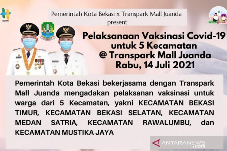 7.000 warga Kota Bekasi dijadwalkan ikuti vaksinasi COVID-19 massal di mal