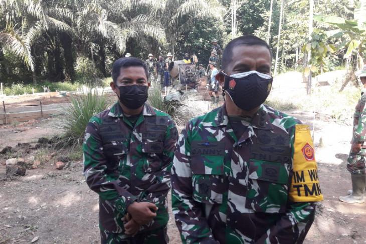 TMMD ke-111 Poles Kuala Mandor B merupakan wilayah perbatasan tiga daerah