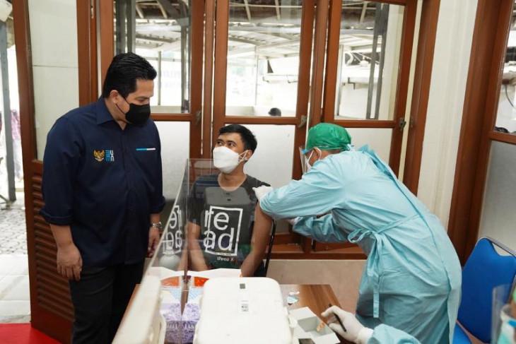 Erick Thohir puji PT KAI  prioritaskan layanan vaksin bagi penumpang