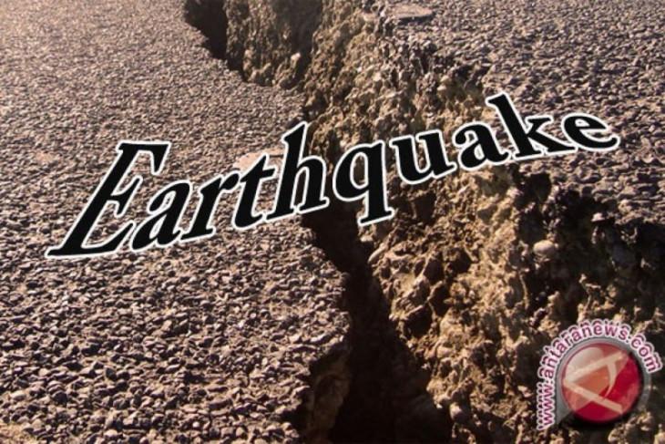 Gempa bumi dengan magnitudo 6,2 getarkan barat daya Melonguane-Sulut