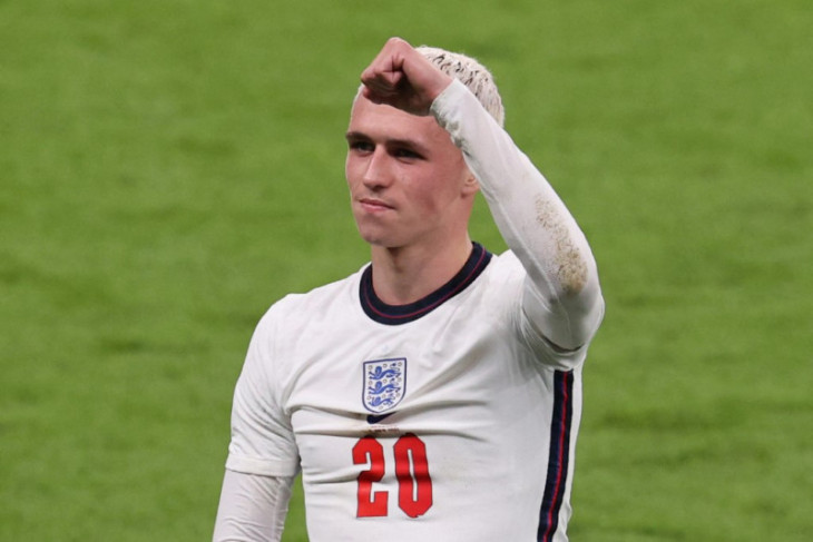 Gelandang timnas Inggris Phil Foden tak ikut latihan jelang Final Euro