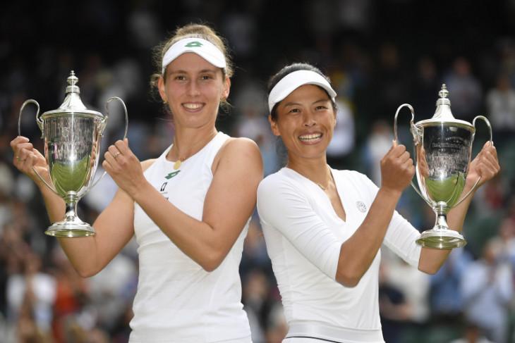 Petenis Taiwan sabet gelar ganda Wimbledon  untuk ketiga kalinya