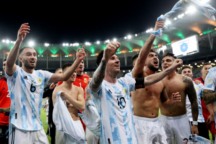 Kalahkan Brazil 1-0,  Argentina juara Copa America 2021
