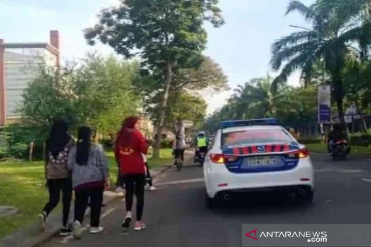 Polisi bubarkan kegiatan olahraga di Grand Wisata Tambun Bekasi