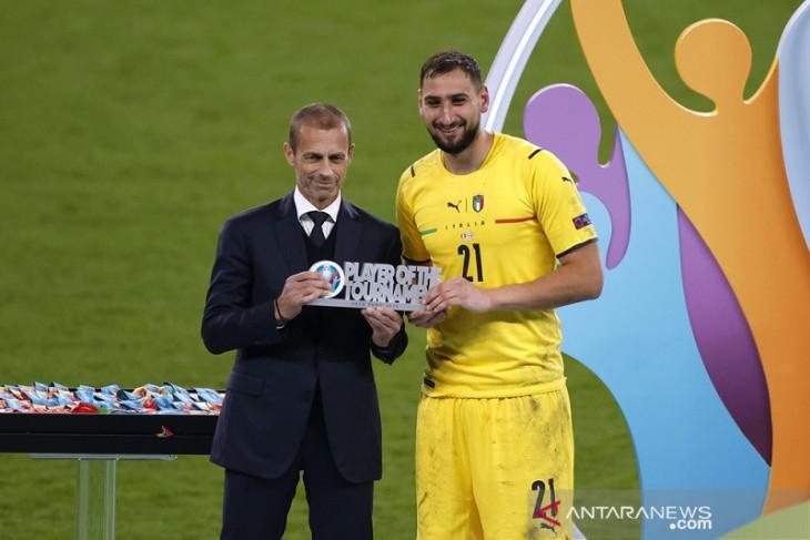 Pahlawan adu penalti Italia, Donnarumma Pemain Terbaik Euro 2020