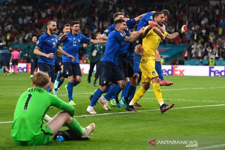 Italia juara Euro 2020 setelah tumbangkan Inggris melalui adu penalti