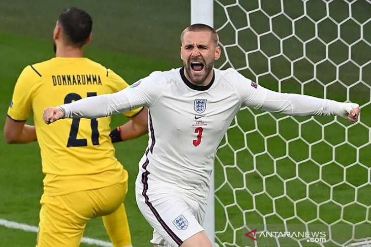 Luke Shaw pecahkan rekor gol tercepat final Euro