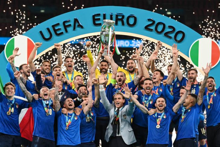 Beragam reaksi atas gelar juara Euro 2020 diraih tim Italia