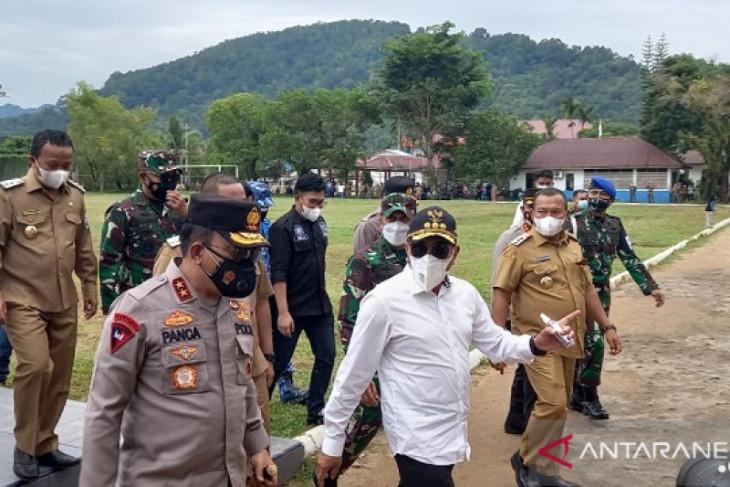 Gubsu, Pangdam dan Kapolda tiba di Tapteng tinjau PPKM Mikro di Sibolga