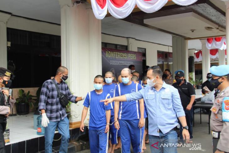 Polisi Sukabumi Kota ciduk 10 pengedar narkoba selama PPKM darurat