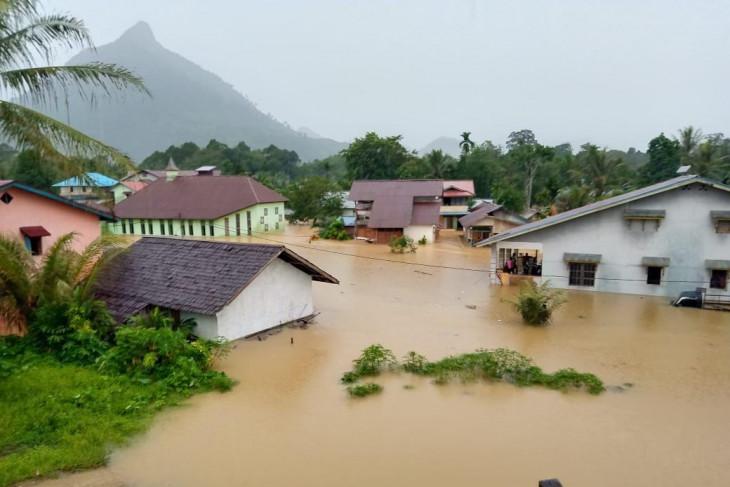 Ratusan rumah warga di Desa Pakak Kabupaten Sintang terendam banjir