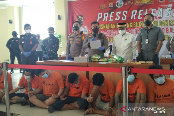 Polresta Tangerang gagalkan peredaran 7,3 kilogram sabu