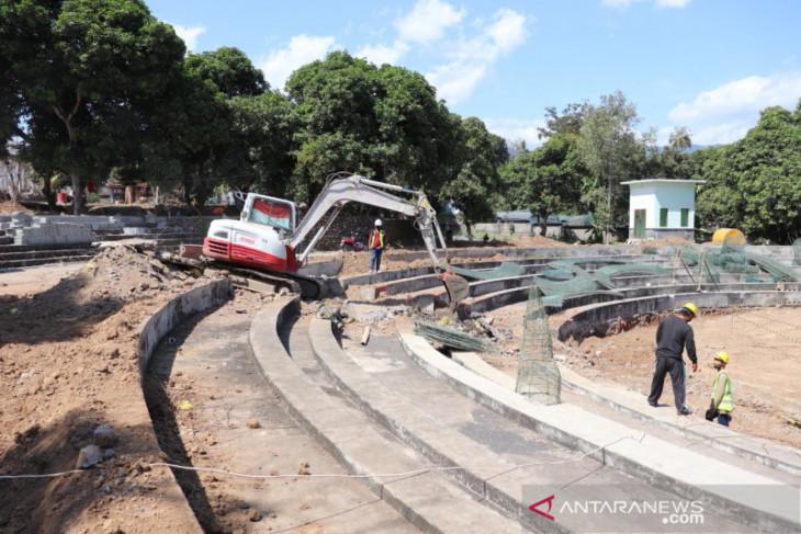 Pembangunan RTH Bung Karno di Buleleng tetap dikebut meski PPKM
