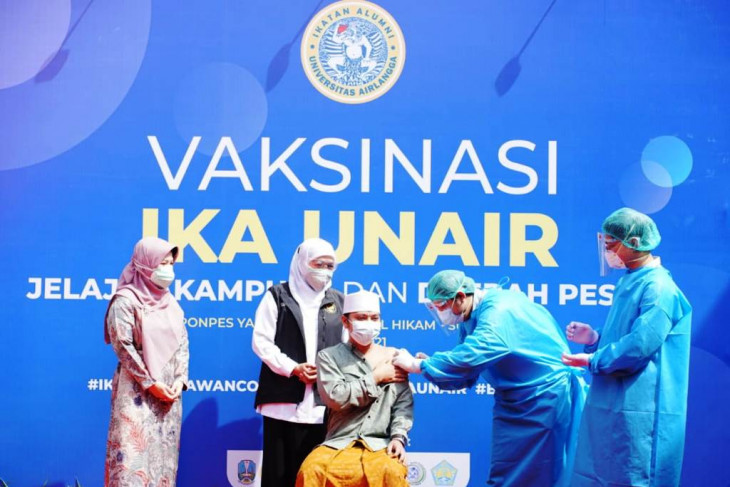 IKA UA dan Pemprov Jatim berkolaborasi percepatan vaksinasi