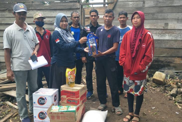 Dinsos Aceh Besar salurkan bantuan masa Panik korban angin kencang